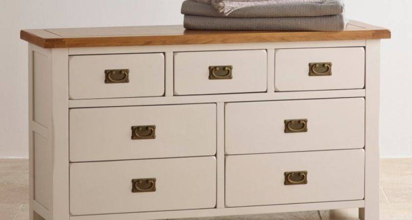 Kemble Chest Drawers Rustic Painted Solid Oak