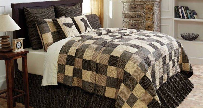 Kettle Grove Queen Quilted Country Primitive Bedding