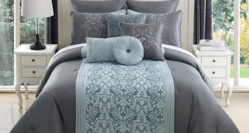 King Grey Comforter Set