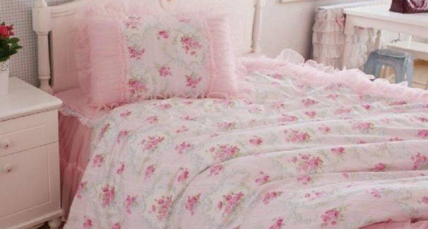 King Queen Twin Princess Shabby Floral Chic Pink