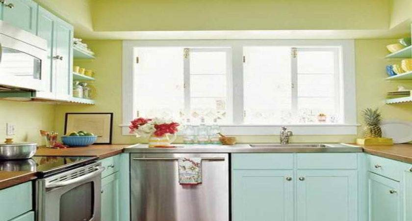Kitchen Cabinet Colors Small Kitchens Awesome