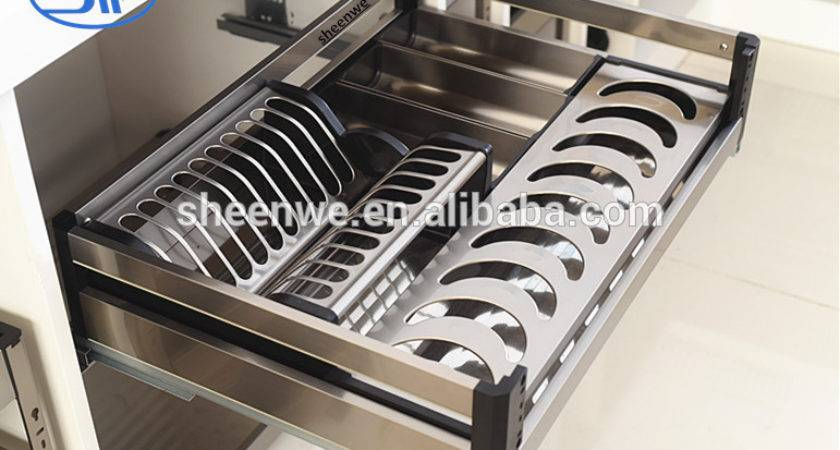 Kitchen Cabinet Pull Out Basket Stainless Steel