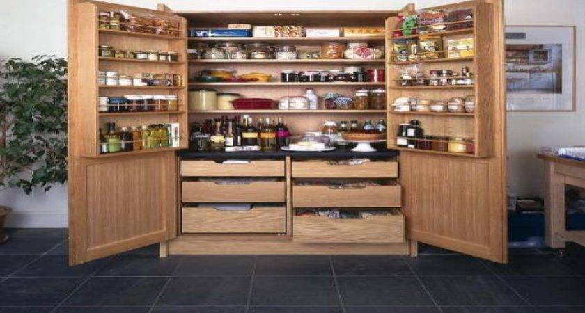Kitchen Closets Cabinets Stand Alone Pantry
