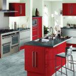 Kitchen Design Red Black White Concept