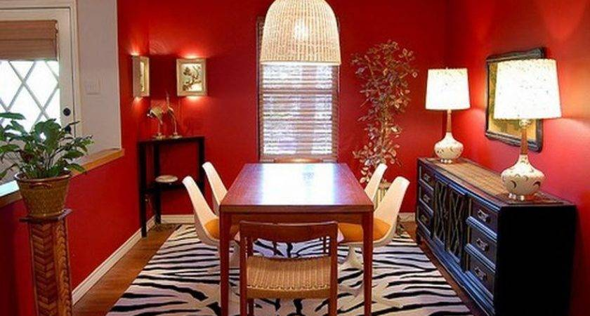 Kitchen Red Dining Room Decorating Ideas