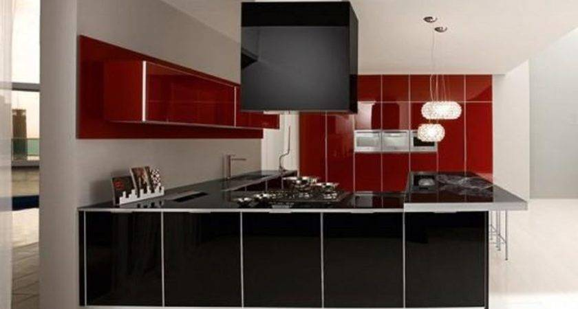 Kitchen Remodel White Black Red Detrit