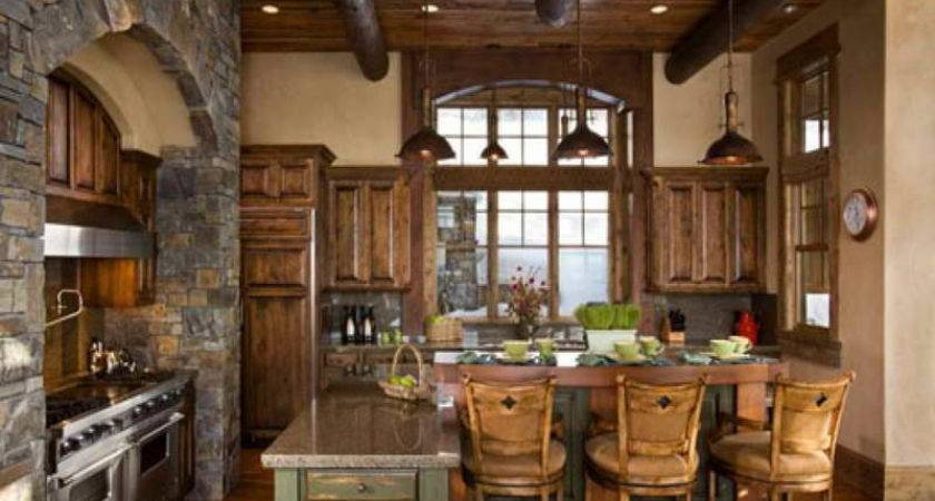 Kitchen Rustic Italian Designs Warm Soft