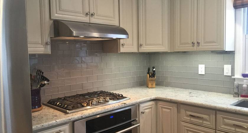 Kitchen Surprising White Cabinets Backsplash Also