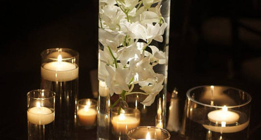 Knestrick Design White Orchids Candlelight