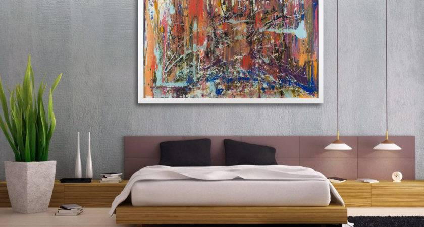 Large Abstract Art Extra Wall Modern Glass