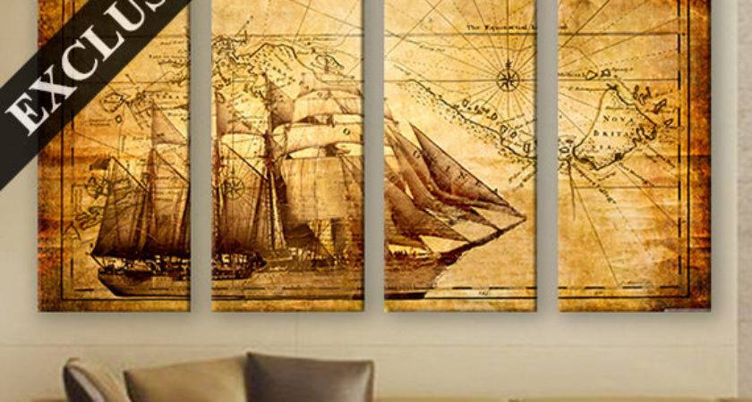 Large Wall Decor Canvas Set Panel Art Extra