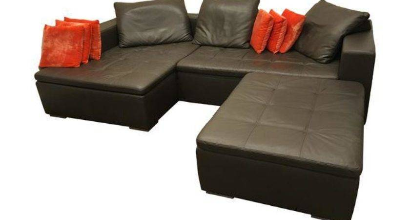 Leather Corner Sofa Pillows Chairish