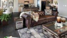 Leather Couch Decorating Ideas Living Room Modern House