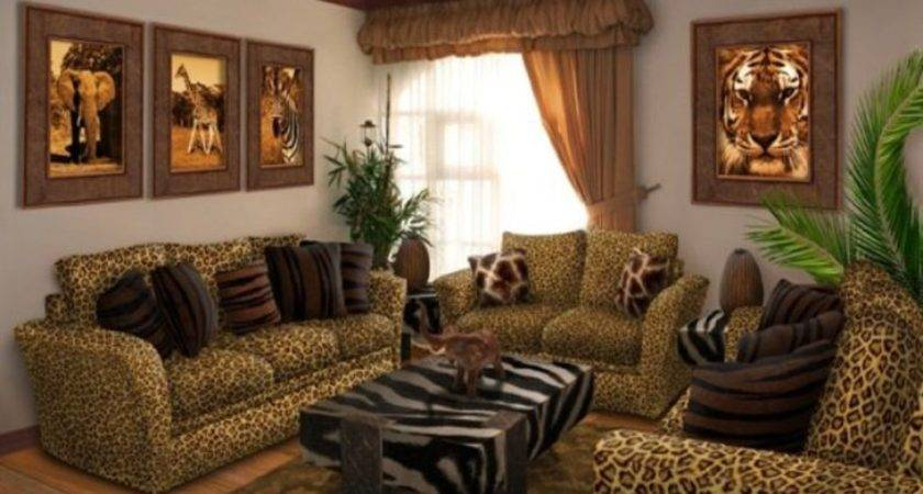 Leopard Living Room Leather Decor Elegant Animal Print