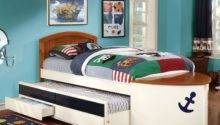 Lets Sail Boat Inspired Twin Bed Drawer Trundle