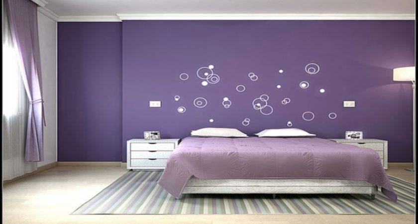 Light Blue Gray Bedroom Green Purple