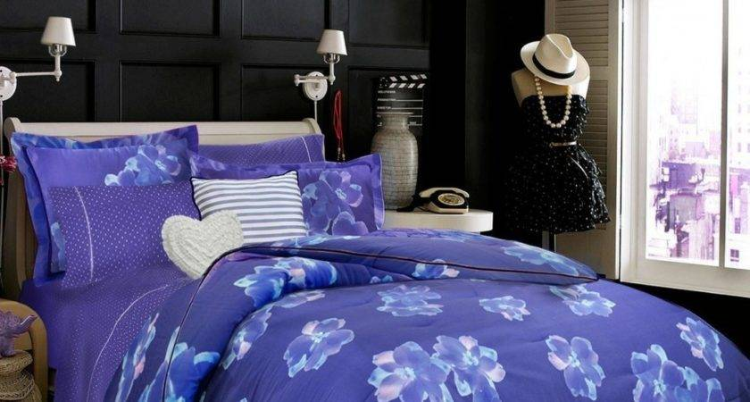 Light Purple Blue Bedroom