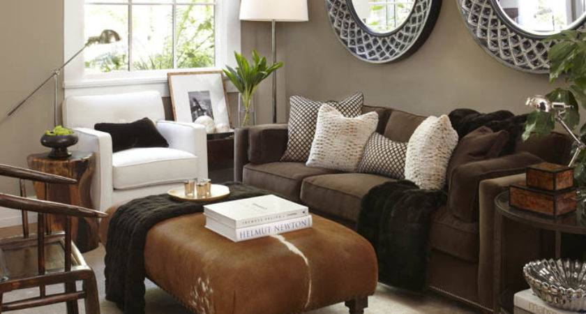 Light Taupe Wall Paint Contemporary Living Room