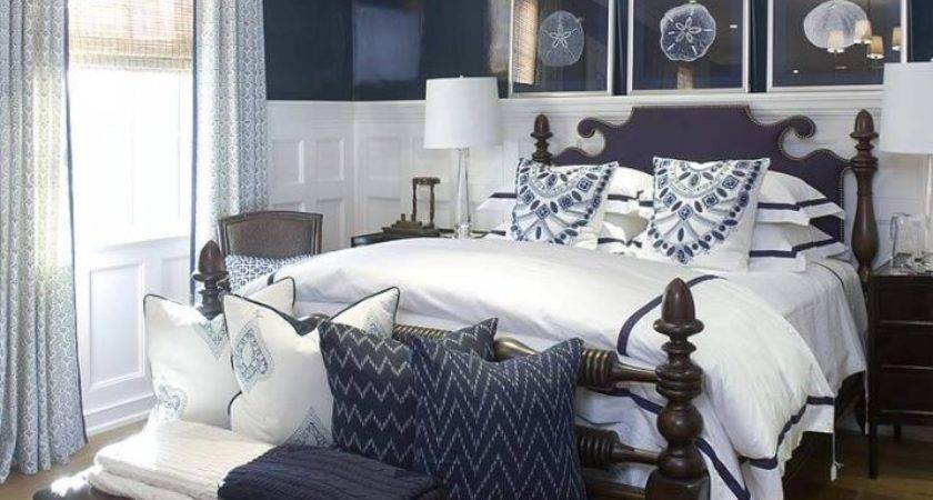 25 Navy And White Bedrooms Ideas Barb Homes