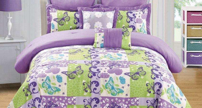 Lime Green Bedding Set Trendy Bright Bed