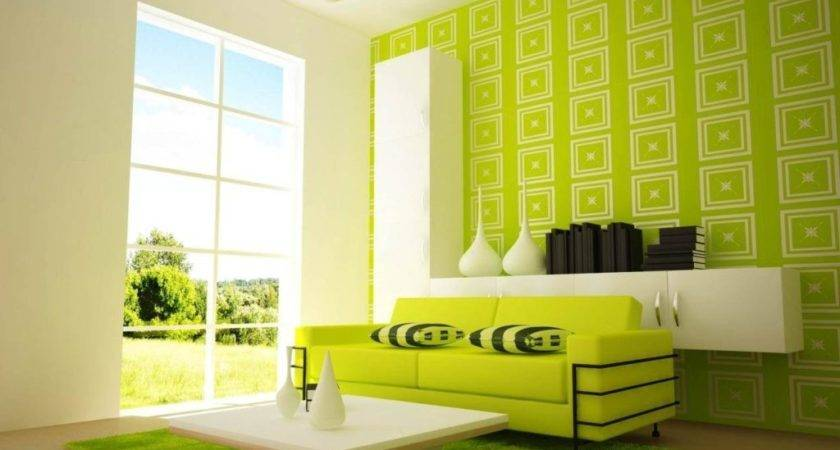 Lime Green Black White Living Room Modern House