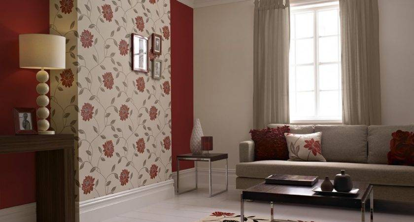 Living Room Charming Feature Wall Using
