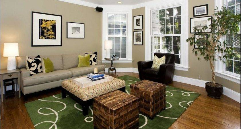 Living Room Classic Color Combination White Taupe