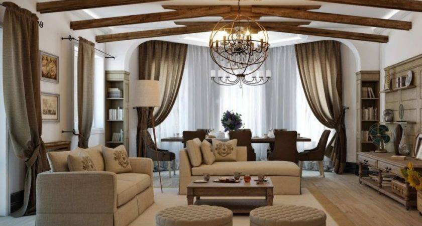 Living Room Country Style Decorating Ideas