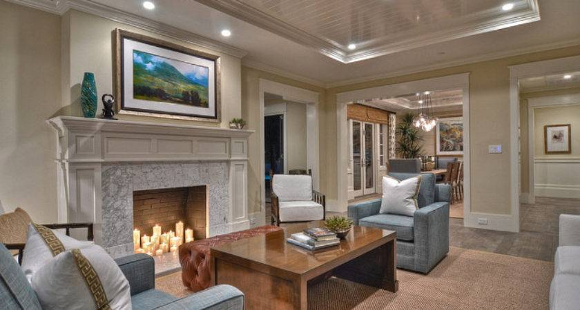 Living Room Decor Ideas Cottage Blue Chairs Add Touch