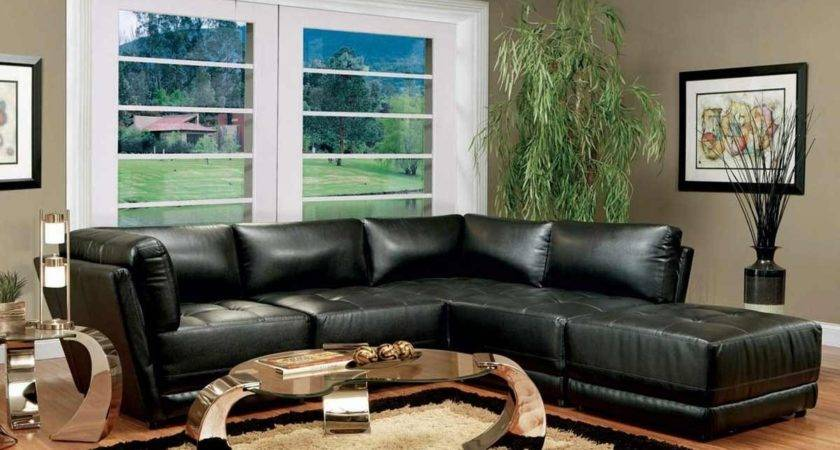 Living Room Decorating Ideas Black Leather Furniture