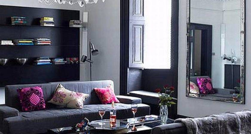 Living Room Design Black Grey