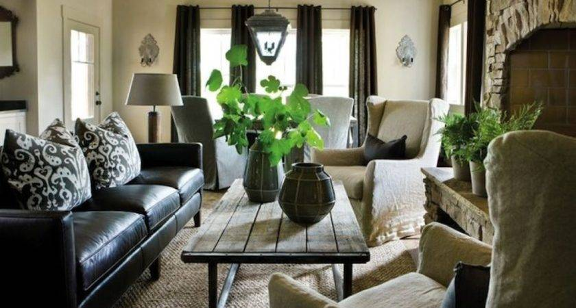 Living Room Design Black Leather Sofa Best