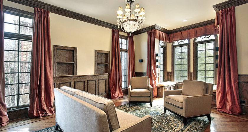 Living Room Designs Beautiful Woodwork Throughout