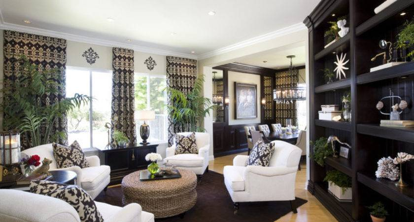 Living Room Dining Modern Traditional Styling