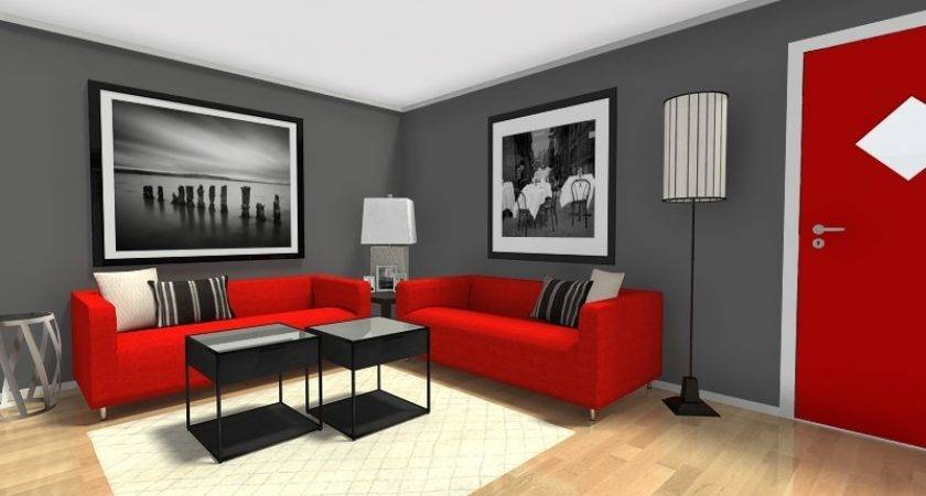 Living Room Ideas Dark Grey Walls