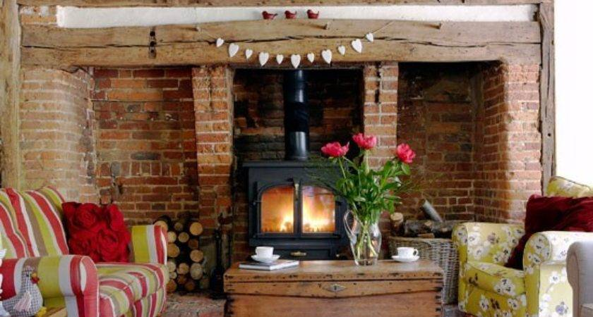 Living Room Real Homes Cosy Cottage Kent