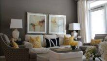 Living Room Res Grey Wall Ideas