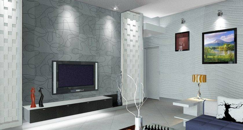 Living Room Wall Design India Interior