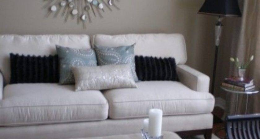 Living Room White Silver Black Taupe Blue Grey Home Decor
