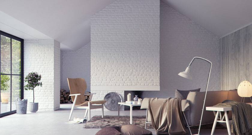 Living Rooms Exposed Brick Walls