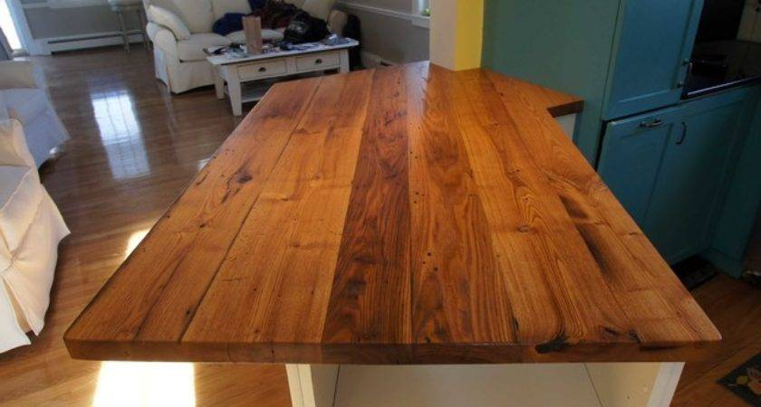 Longleaf Lumber Reclaimed American Chestnut Counter