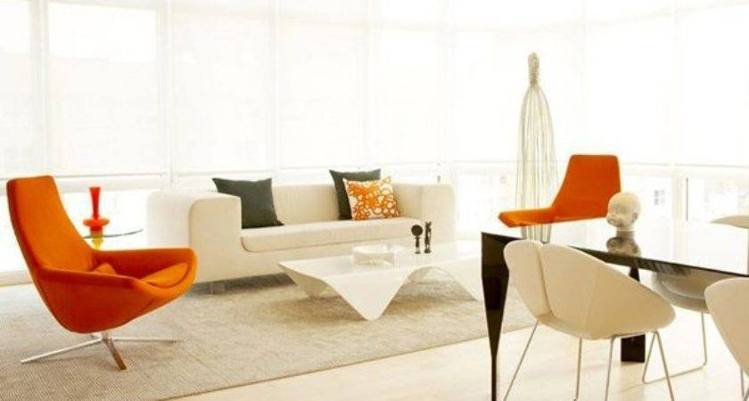 Luscious Orange White Living Rooms Home Design Lover