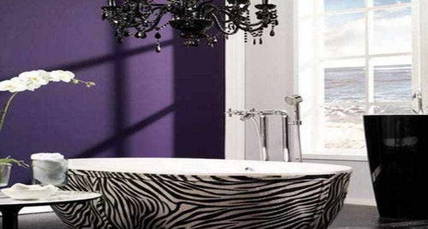 Luxury Bathroom Fixtures Zebra Print Red