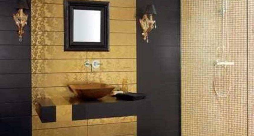 Luxury Bathroom Tiles Gold Color Design Bookmark