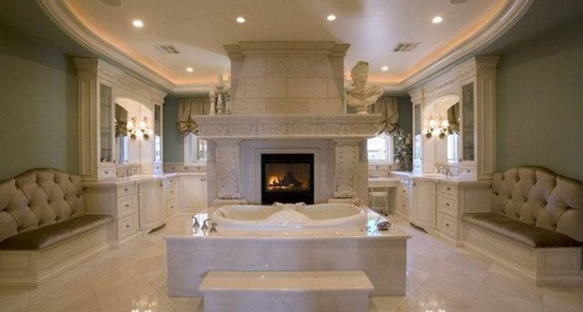 Luxury Bathrooms Astonishing Fireplaces