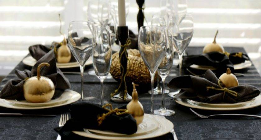 Luxury Black Gold Table Decorations Home Design