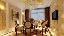 Luxury Dining Room Gold Details