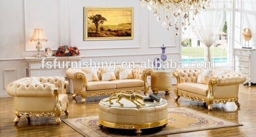 Luxury Gold Silver White Chesterfield Leather