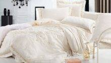 Luxury Jacquard Bedding Set Queen King Pcs Beige Tribute