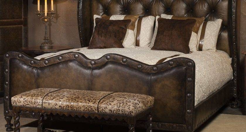 Luxury Leather Bed Eye Catching Western Styling